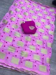 Pure Georgette Zari Viving Saree
