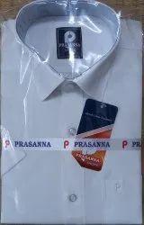 Plain Collar Neck Prasanna Formal white shirts, Handwash, Size: 36