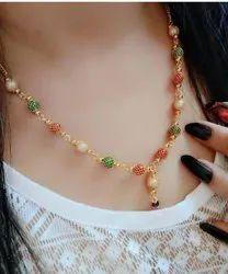 Golden Brass Fancy Para Necklace, Festivals
