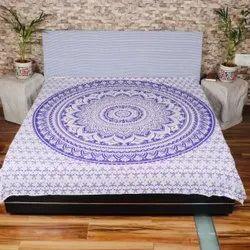 Handmade Mandala Tapestry Double Bedsheets