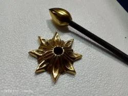 Brass Door Dome, Thickness: 10mm, Star