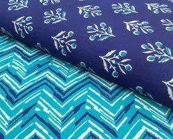 Hitanshi Green Cambric cotton kurti fabric, For Garments