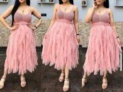 Plain Western Wear Net Dress
