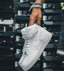 Nike White Shoes, Size: Medium