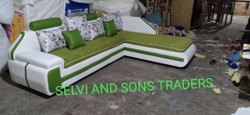 Green Corner Sofa Set