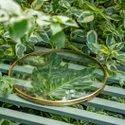 Glass Brass Photo Frame Round