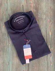 Linen Chinese Collar Shirt