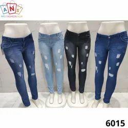 Regular Button Ladies Jeans
