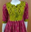 Magenta Cotton Anarkali Kurti, Wash Care: Machine Wash