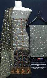 Cotton Satin Bandhani Suit