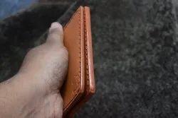 Male Tan Handmade Leather Wallets