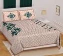 Sanganeri printed cotton bedsheets with 2 pillow cover