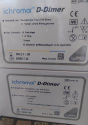 Ifa IChroma D Dimer, BODITECH KOREA, 25 Tests