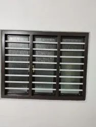 Steel windows with square type gril