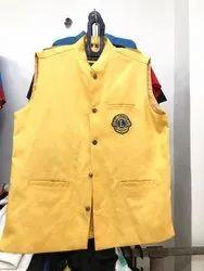 Sleeveless 100 % Cotton Drill Fabric Lions Club Jacket