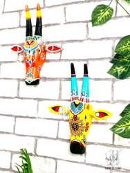 Wood cow face wall decor face