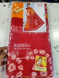 radhika Casual Wear Voil Cotton Saree Without Blouse, 5.5 m