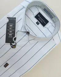 Multicolor Full Sleeves Mens Lycra Shirt, Size: S M L XL XXL