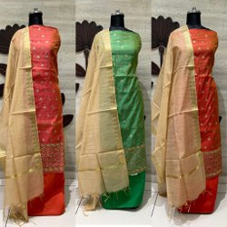 Roopawali Chanderi Dress Material