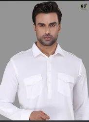 2-Piece Suit Festive White Pathani Suits