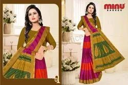 Casual Wear Printed Minu Malang Saree, Without blouse piece, 5.5 m (separate blouse piece)