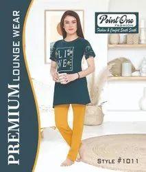 Ladies Night Wear Printed Nightwear, 15-45