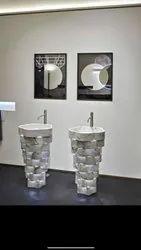 Italian Marble Pedestal