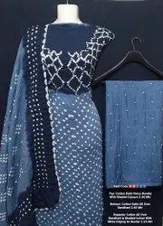 Cotton Satin Fancy Bhandhej Suit