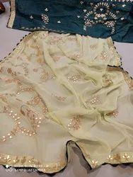 Pure Chiffon Fabric Saree