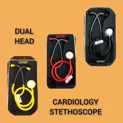 Double Sided DERBY CARDIOLOGY STETHOSCOPE, Polished Alloy, Floating