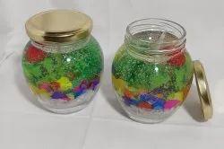 Lighting Decorative Gel Candles, Shape: Round