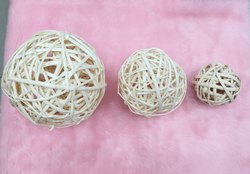 Natural Wooden Wicker Rattan Decoration Balls Table Wedding Party Christmas Decoration