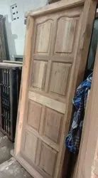Brown Plain Wood frame with door