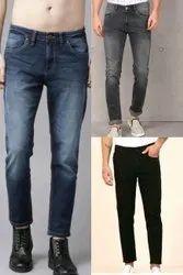 Polycotton Faded Fashionable Men Jeans, Waist Size: 32