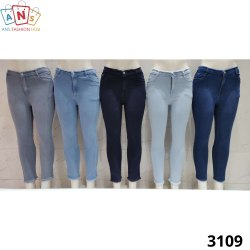 Lesson Regular Single Button High Waist Women Denim Jeans With Fur