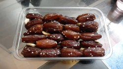 BEING HEALTHY A Grade Packaged Dates TUNISIAN ALMOND STUFFED, Packaging Type: Carton, Packaging Size: 5 Kg