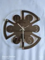 Analog Wooden Wall Clock, Size: 16 Inch X 16 Inch
