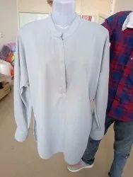 Banded Collar Ladies Kurta, Size: S-xxl