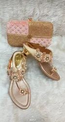 Ladiea Fancy Chappal And Bags