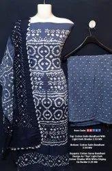 Bhandhni cotton satin suit
