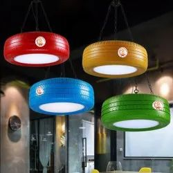Used Tyres White Cafeteria Lights