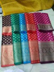 Warm Silk Soft Sarees, 6.5 m ( with blouse piece )