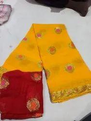 Meena Buti Zari Saree