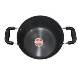 hard anodized  stupan/ stock pot with steel lid