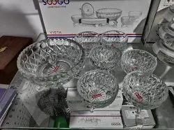 Transparent Soogo Glassware, For Pudding Set, Size: 1*1150 Ml + 6*200 Ml