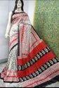 Hand Block Printed Tussar Silk Sarees