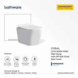 Sunhearrt Ceramic Wall Hung Closet Coral
