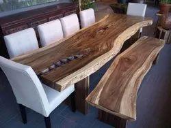 Rectangular Shesham Natural Live Edge Wooden Slab Tables, For Home, Size: 3 Ft By 2 Ft