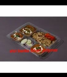 Disposable Meal Tray 5 cp