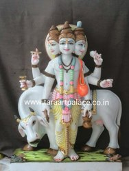 Marble Statue of Lord Dattatreya